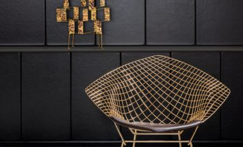 Knoll - Bertoia_Diamond_Chair_Gold_