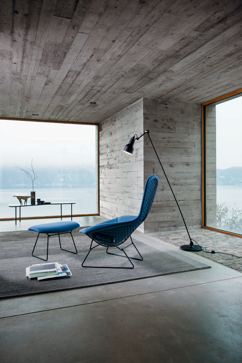 Knoll - Bertoia_High_Back_Chair_Ottoman