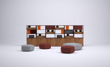 Knoll - Colourfold - room divider - kastenwand - metaal hout - Storage Divider