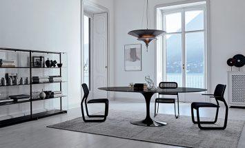 Knoll - Newson - Saarinen tullip table - Red Baron