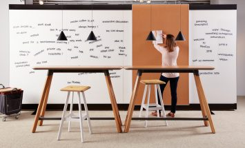 Knoll - Rockwell - scrumroom - hoge vergadertafels - brainstorm meubilair