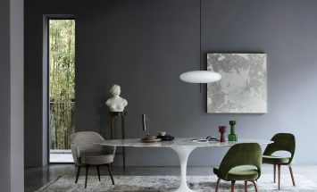 Knoll - Saarinen tullip table - Conference chair