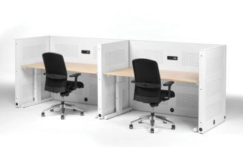 werkplek met wanden - bureau met akoestische wand - High-Tee - Voortman - ENNAIR