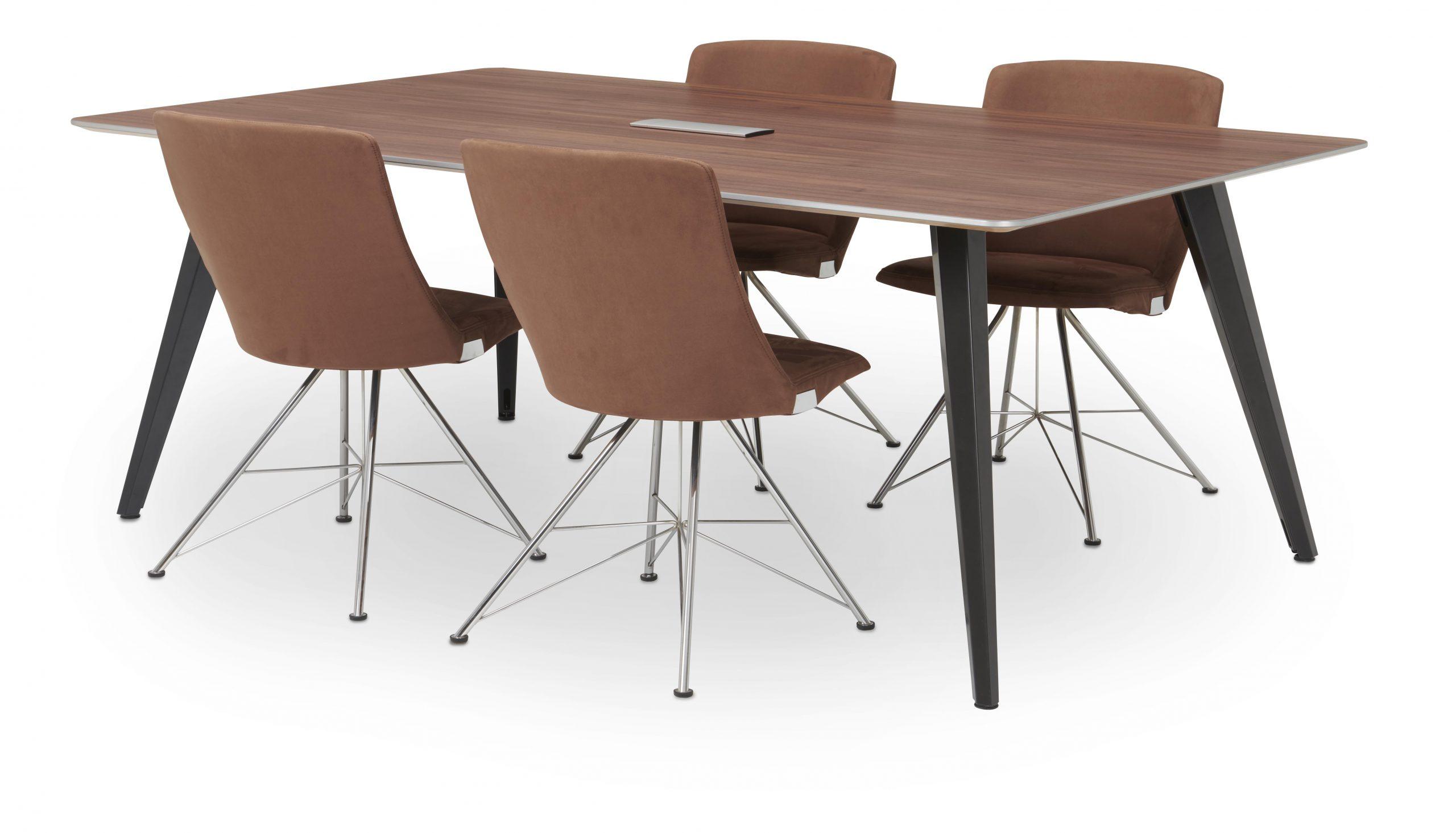 200 x 120 noten metal gun bruine stoel