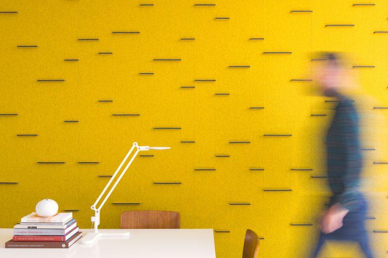 Akoestische wand - wolvilt - kleurrijk - design - submaterial - horizontal bar - Filzfelt ENNAIR