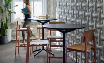 Wandbekleding 3D gips Erwin Hauer design Spinneybeck ENNAIR