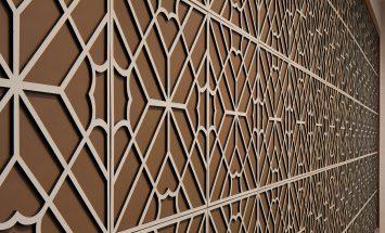Wandbekleding leder - tuigleder - maze layered - Genevieve Bennett - Spinneybeck - ENNAIR