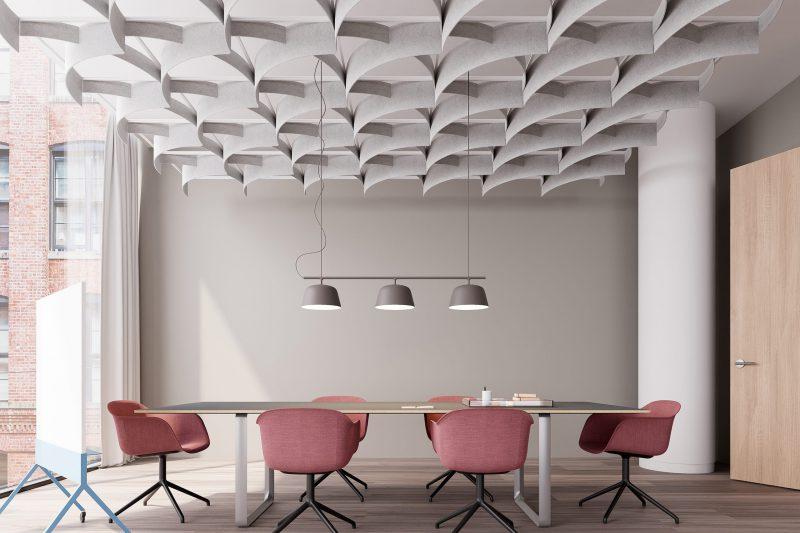 akoestisch plafond - ARO - grid - systeemplafond - filzfelt - ENNAIR