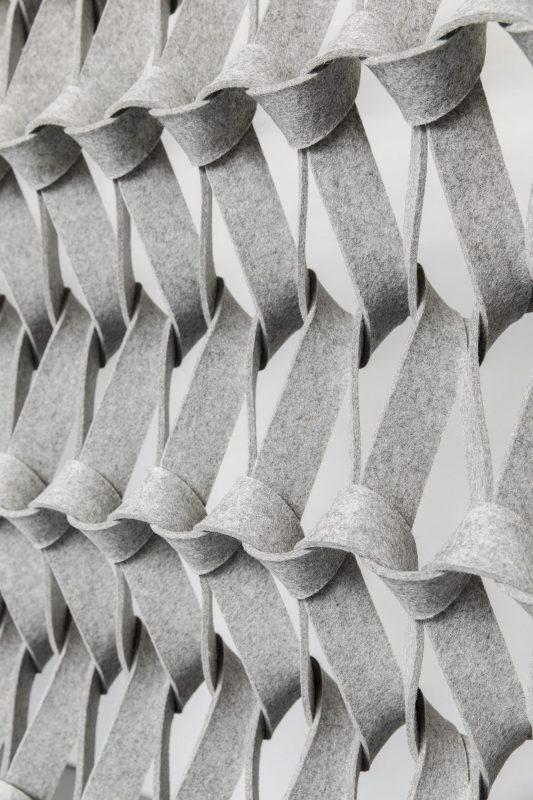 ruimte scheidende panelen - plectera - petra vonk - wolvilt - Filzfelt - ENNAIR