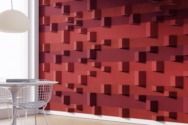 wandbekleding - akoestiek - 3D - Tactile - natuurlijk - wolvilt - Filzfelt - ENNAIR