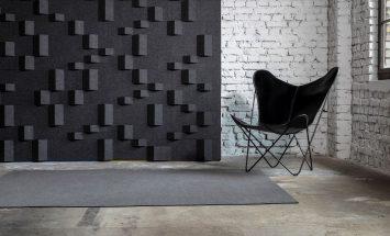 wandbekleding - akoestiek - 3D - architectuur - Tactile - natuurlijk - wolvilt - Filzfelt - ENNAIR