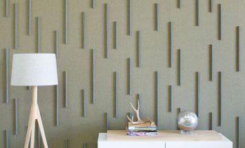 wandbekleding - akoestiek - natuurlijk - wolvilt - vertical bar - submaterial - Filzfelt - ENNAIR