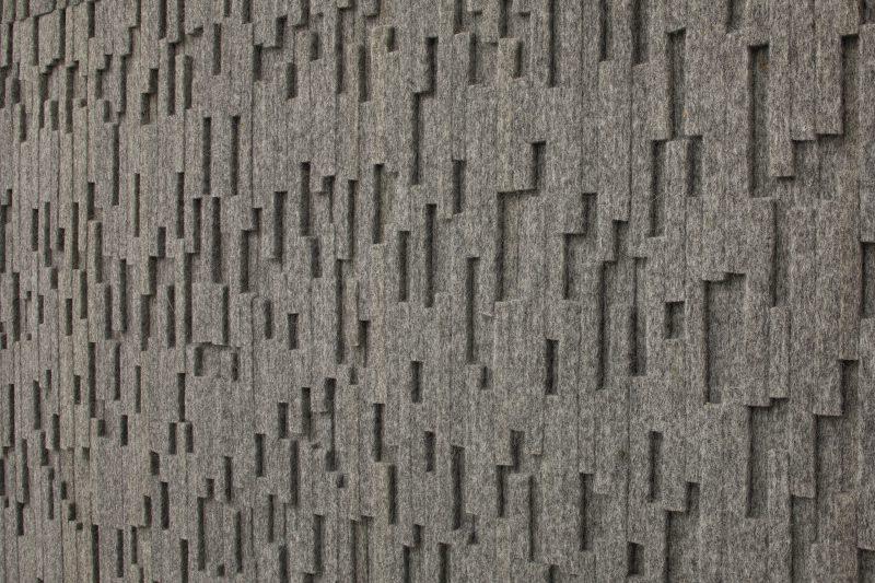 wandbekleding - akoestisch - wolvilt - 3D - imprint - submaterial - Filzfelt - ENNAIR