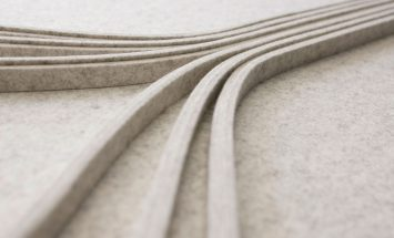 wandbekleding - design - wolvilt - detail - architectuur - akoestisch - submaterial - bulb - Filzfelt - ENNAIR
