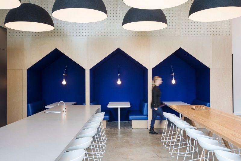 wandbekleding met wolvilt - akoestiek - 100% natuurlijk - design toepassing - blauw - Filzfelt - ENNAIR