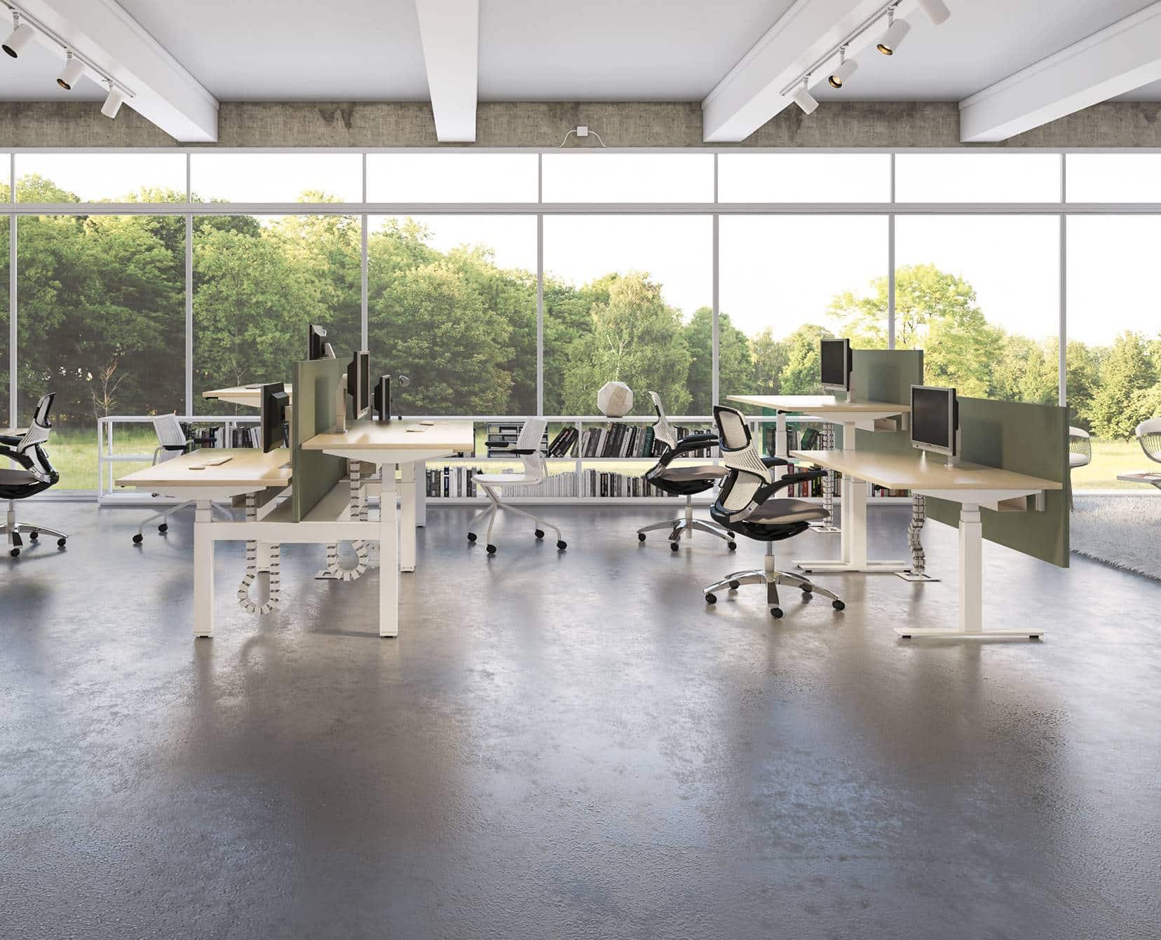 Zit-sta werkplek-kantoormeubilair-Knoll-ENNAIR
